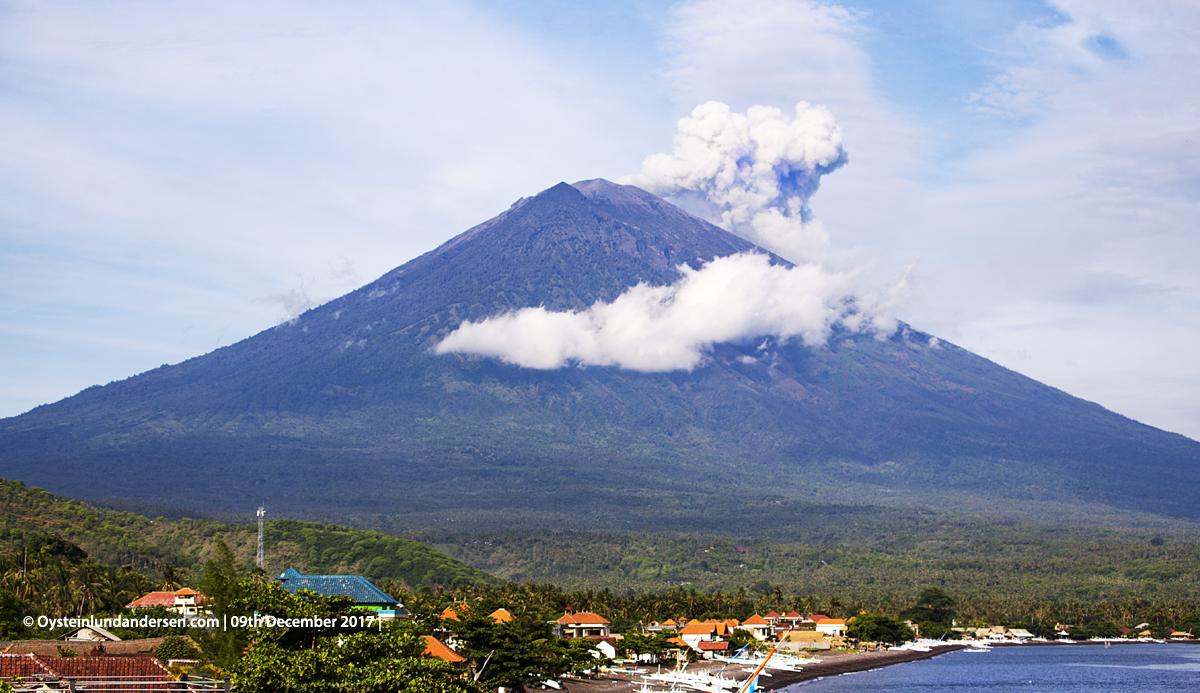 Agung volcano Bali Indonesia December 2017