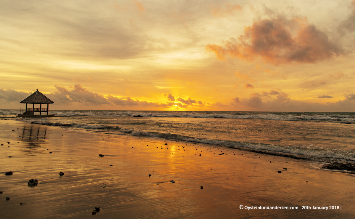 Anyer sunset beach west-java Indonesia 2018