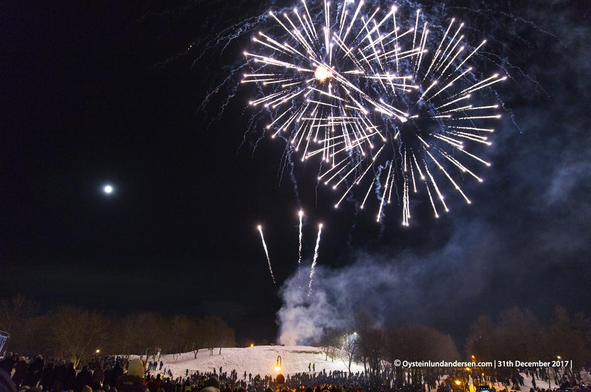 fireworks bodø norway nyttårsaften show 2017
