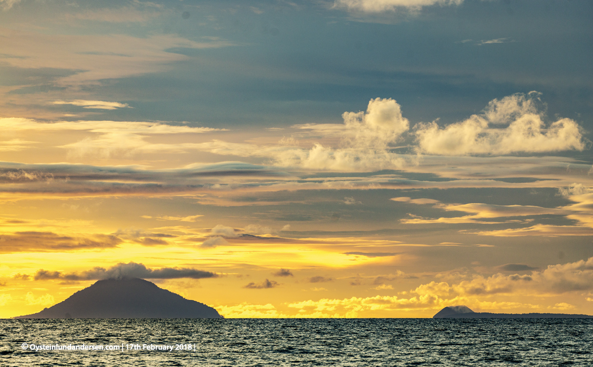 Krakatau from West Java Anyer Indonesia volcano