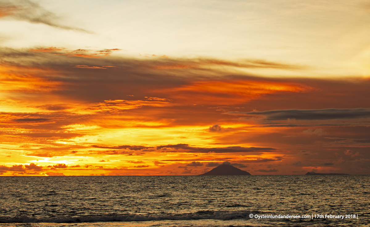 Krakatau from West Java Anyer Indonesia volcano