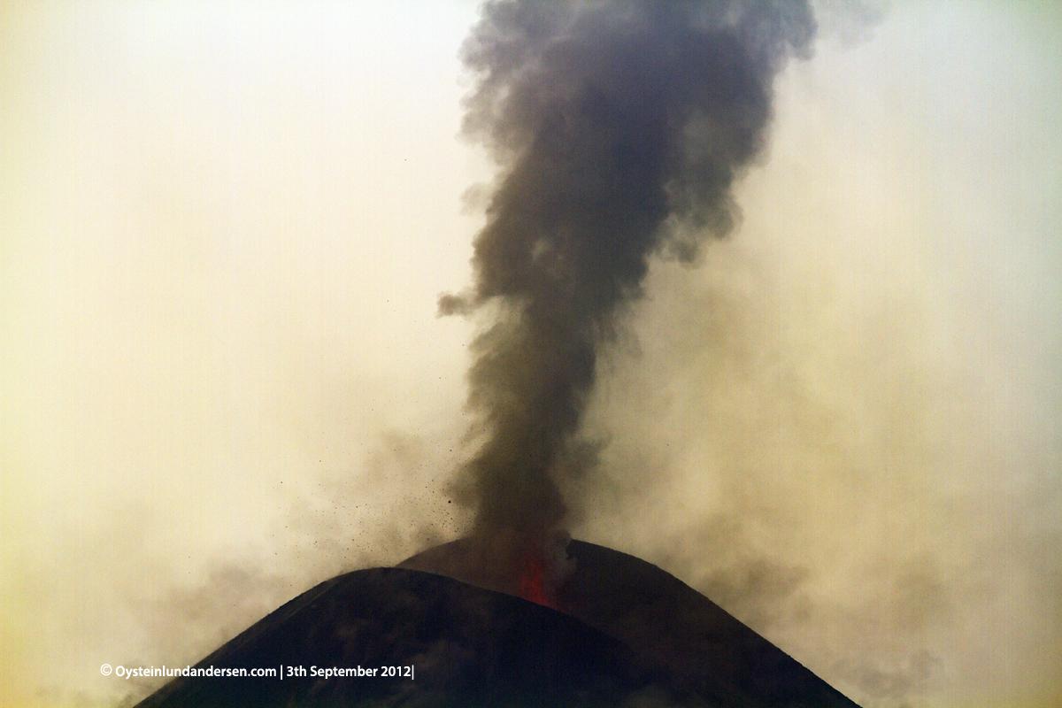 Krakatau Volcano September 2012 eruption Krakatoa Volcano Anak-Krakatau Øystein Lund Andersen