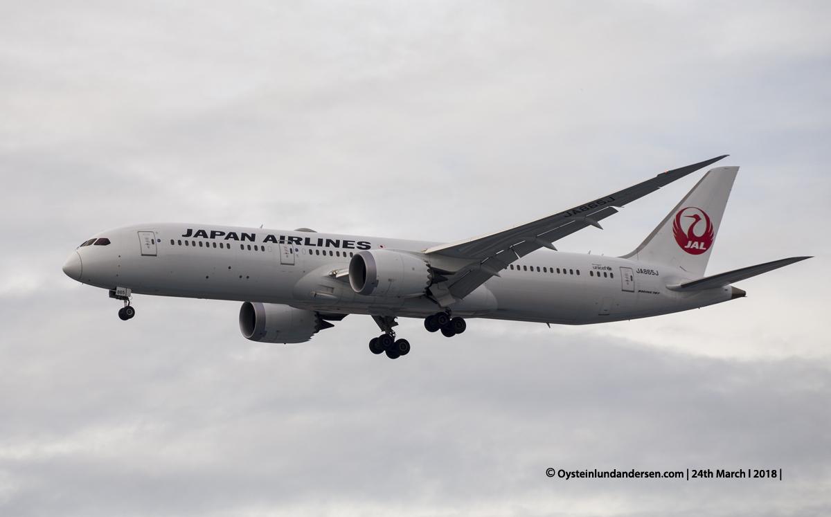 Jakarta airport CGK 2018 Boeing-787-9 JA865J