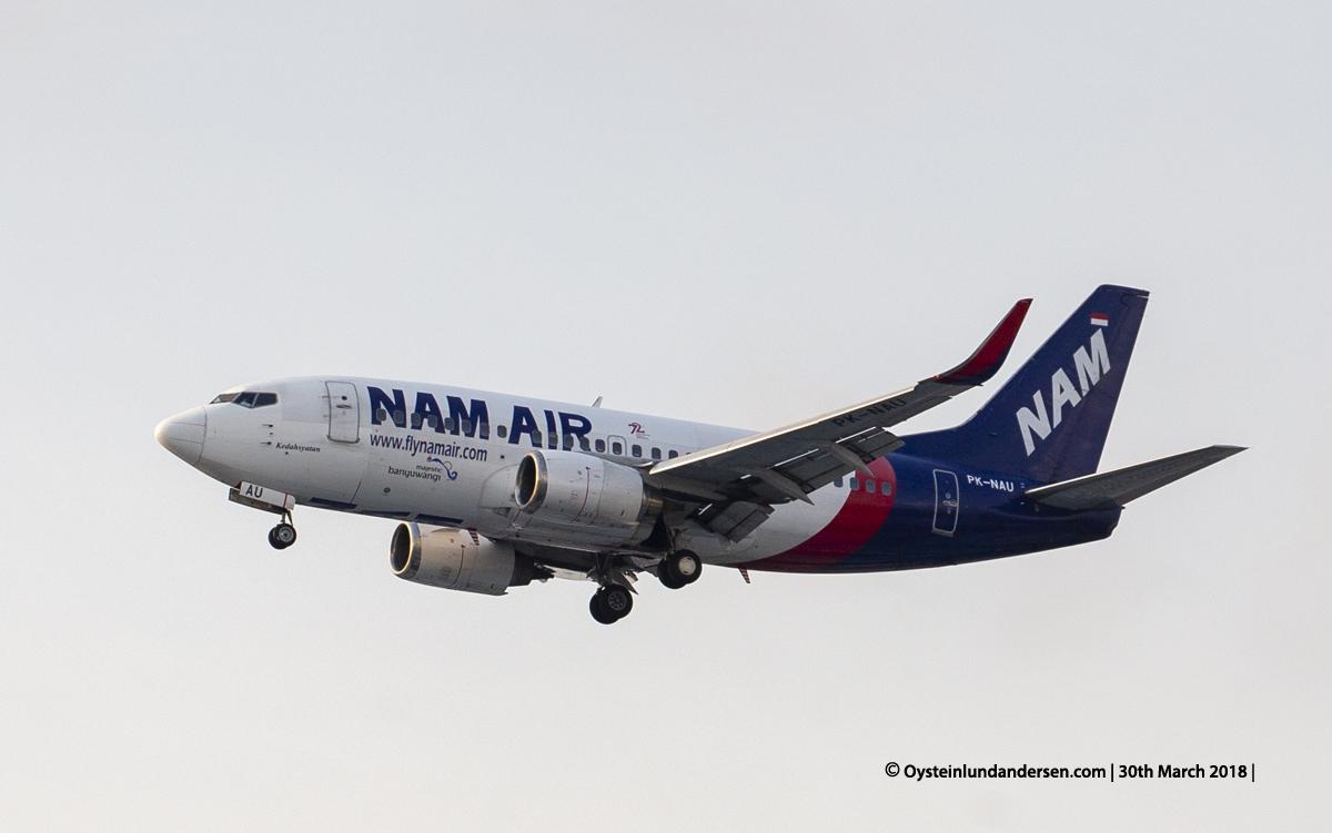 jakarta cgk Nam Air 737-500 PK-NAU