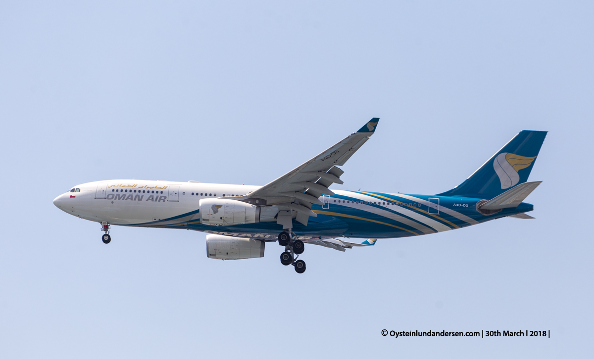 jakarta cgk Oman Air Airbus 330-300 A4O-DG