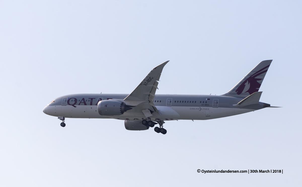 jakarta cgk Qatar Airways Boeing 787-8 A7-BDC