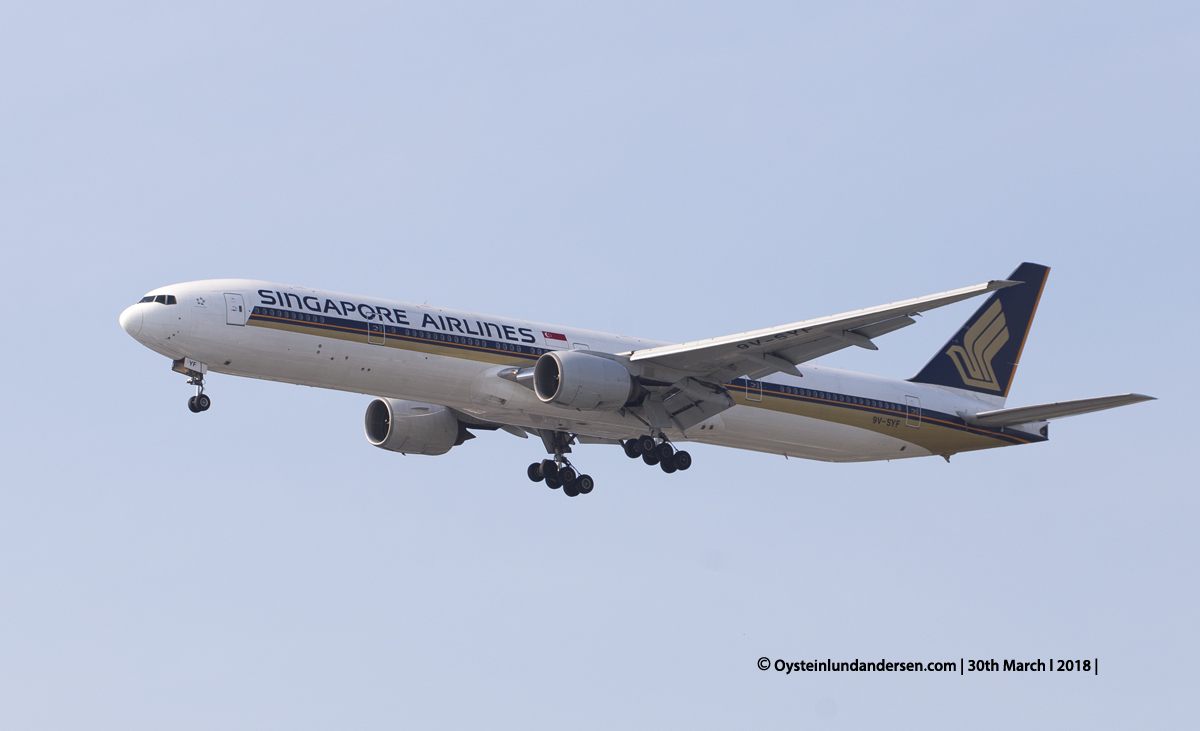 jakarta cgk Singapore Airlines Boeing 777-300 9V-SVF