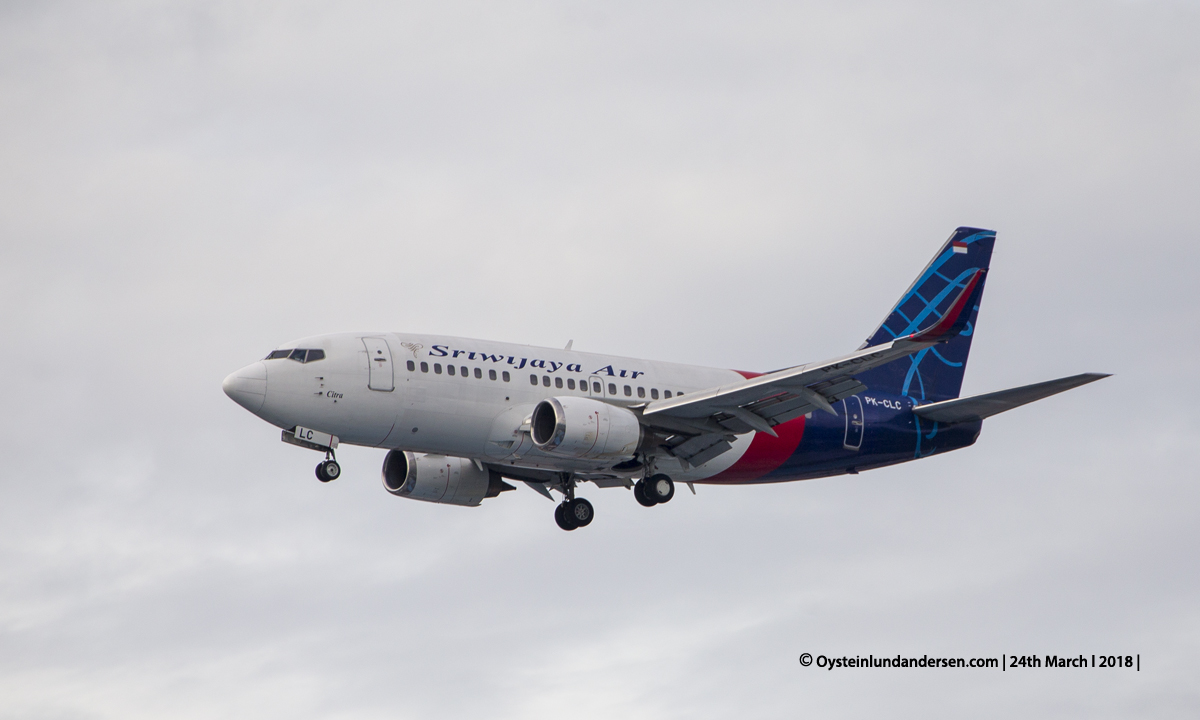 Jakarta airport CGK 2018 Boeing 737-500 PK-CLC