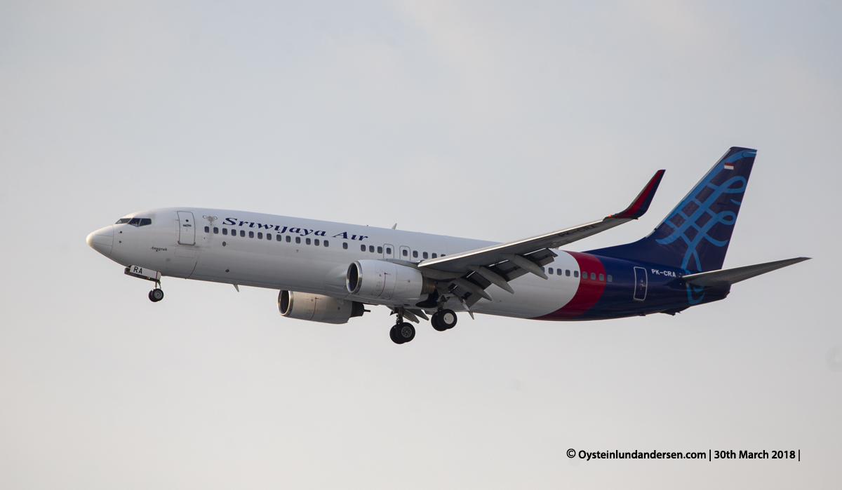 jakarta cgk Sriwijaya 737-800 PK-CRA
