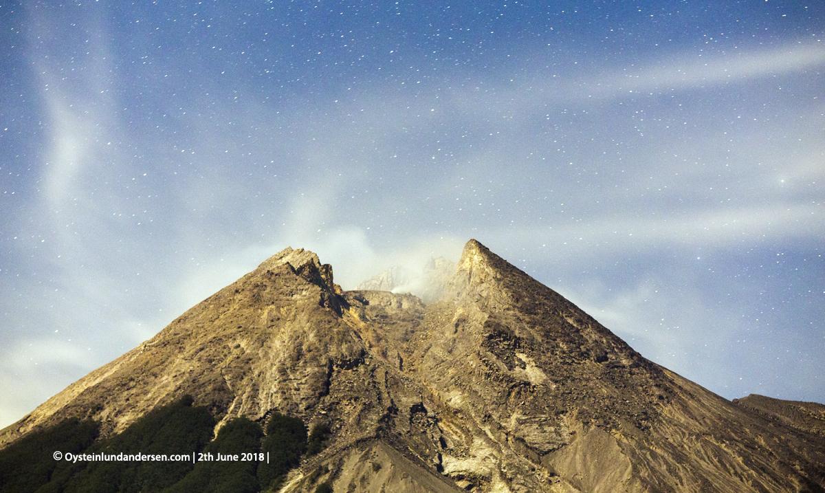 Merapi volcano June 2018 Indonesia Yogyakarta