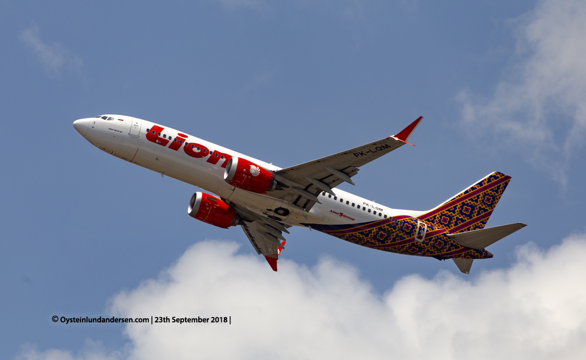 Bali Denpasar 2018 Boeing 737-MAX (PK-LQM)