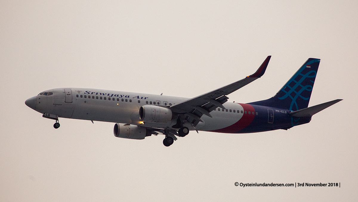 Sriwijaya named Kebahagian Boeing 737-800 PK-CLQ