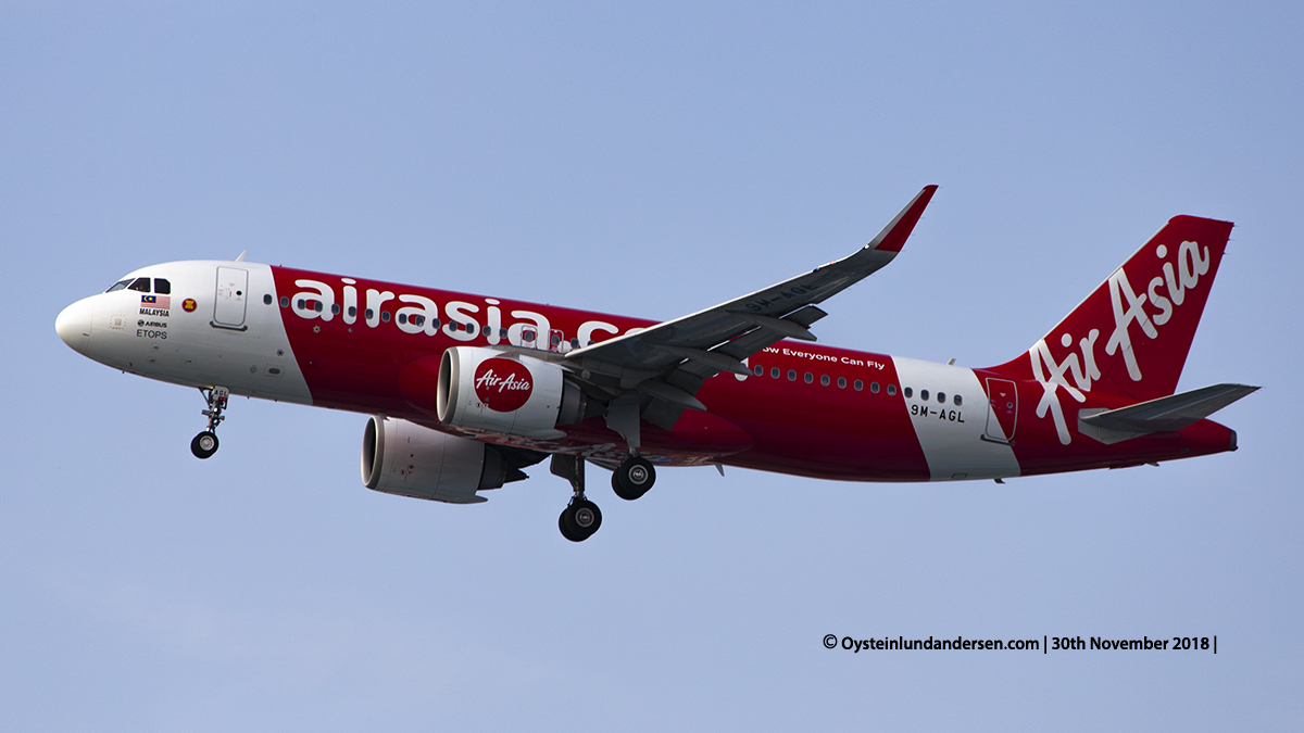 Air Asia Airbus 320 (9M-AGL) Jakarta Indonesia CGK