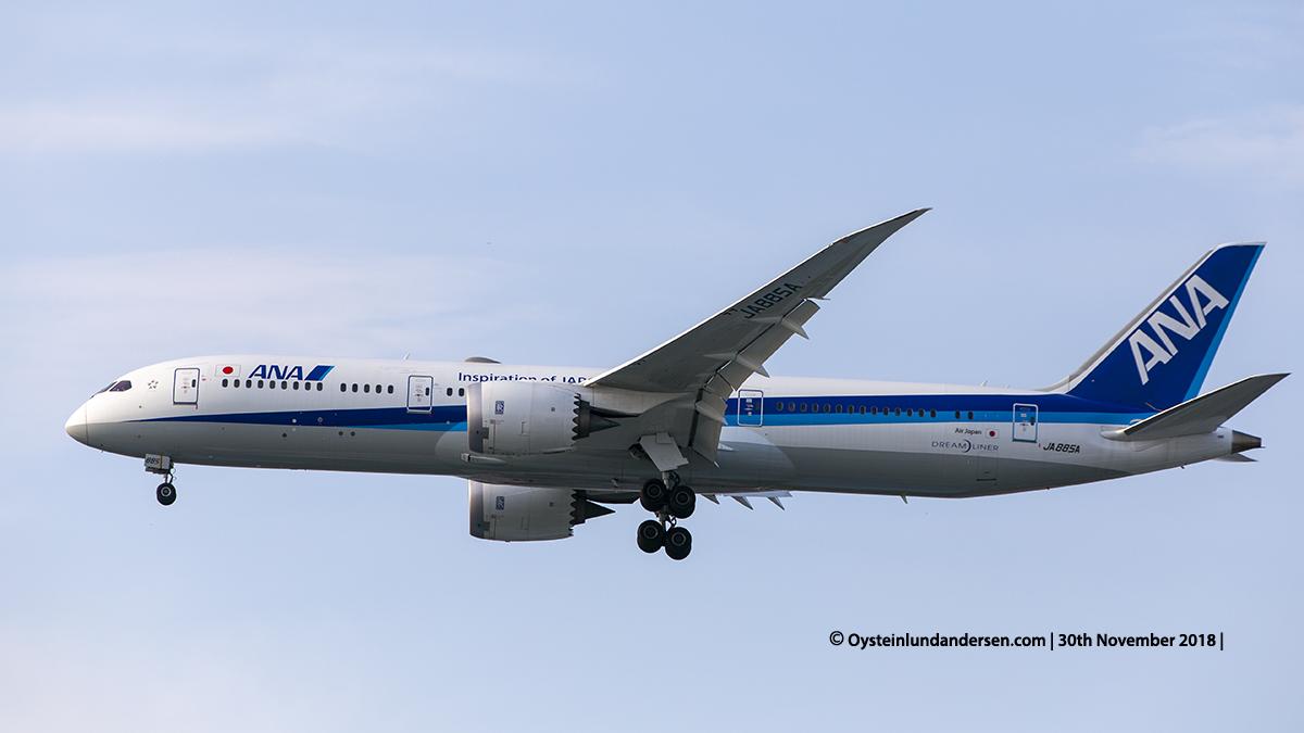 All Nippon Airways Boeing 787-9 (JA885A) Jakarta airport Indonesia CGK