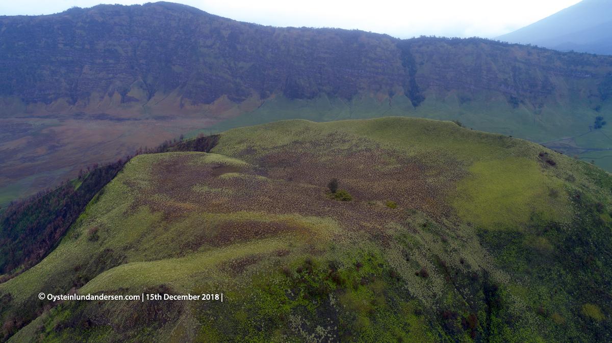 Kursi Gunung Mount aerial crater volcano tengger 2018