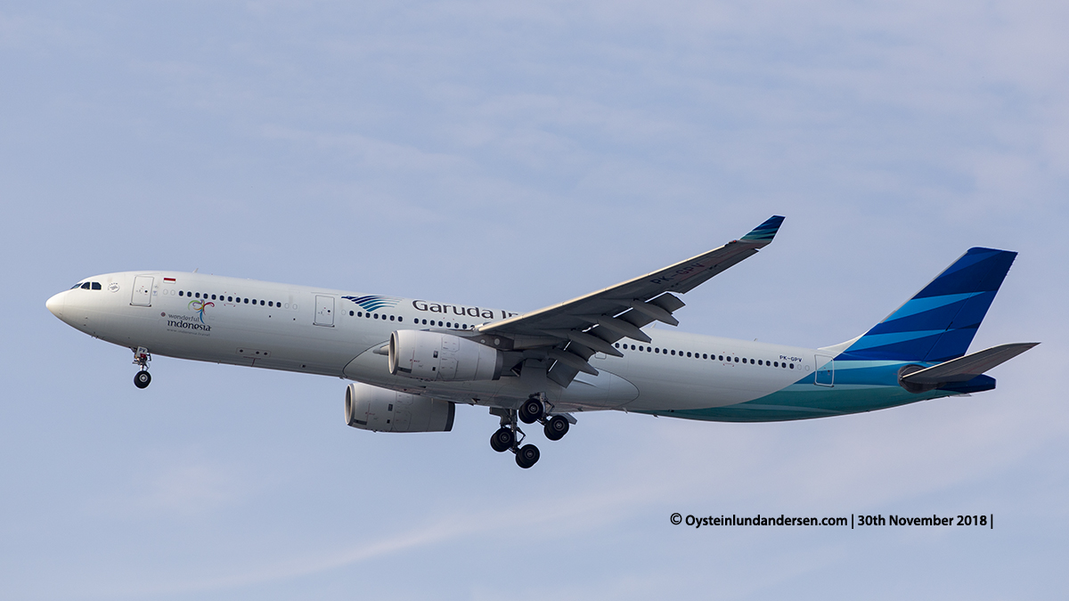 Garuda Indonesia Airbus 330-300 (PK-GPV) Jakarta airport Indonesia CGK
