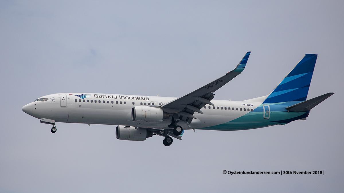 Garuda Indonesia Boeing 737-800 (PK-GFD) Jakarta airport Indonesia CGK