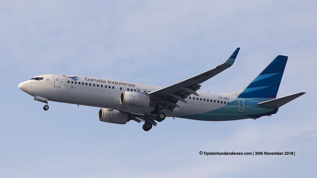 Garuda Indonesia Boeing 737-800 (PK-GMZ) Jakarta airport Indonesia CGK