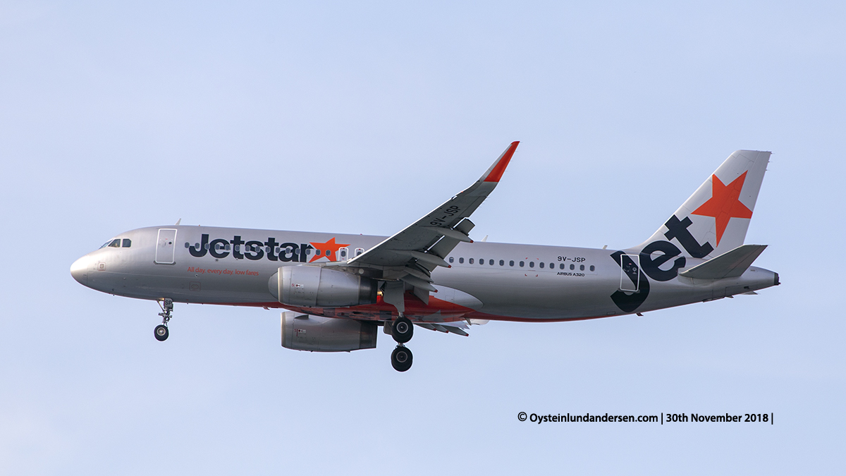 Jetstar Airbus 320-200 (9V-JSP) Jakarta airport Indonesia CGK
