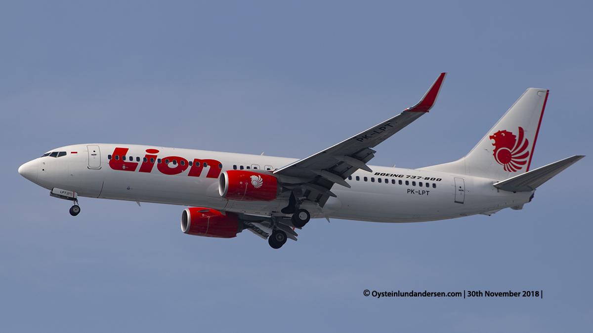 Lion Air Boeing 737-800 (PK-LPT) Jakarta airport Indonesia CGK