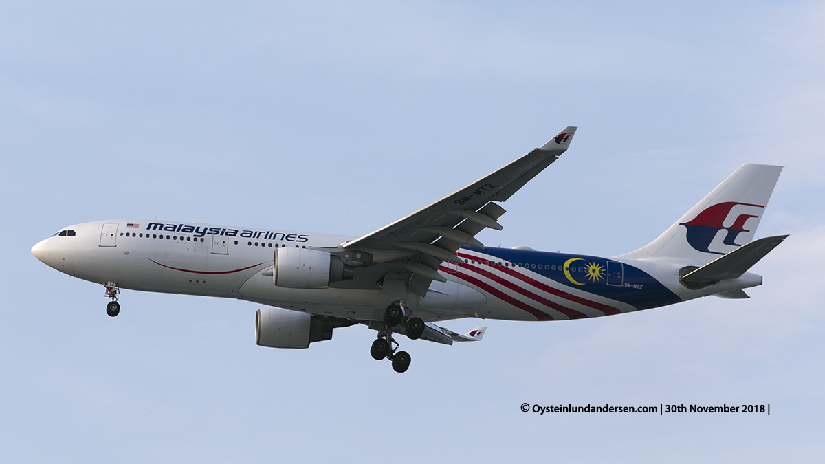 Malaysia Airlines Airbus 330-200 (9M-MTZ) Jakarta airport Indonesia CGK