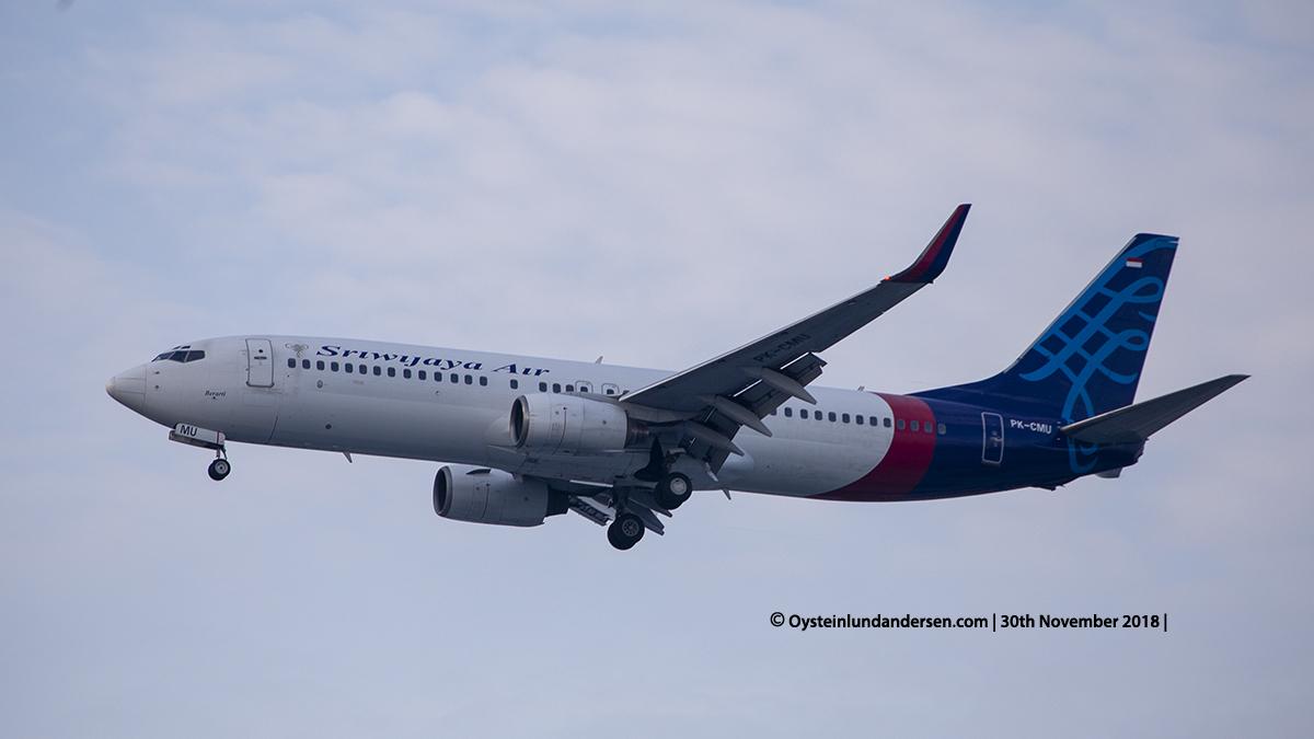 Sriwijaya Air Boeing 737-800 PK-CMU named Berarti Jakarta airport Indonesia CGK