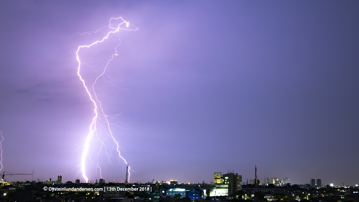 Jakarta Thunderstorm 2018 lightning bmkg