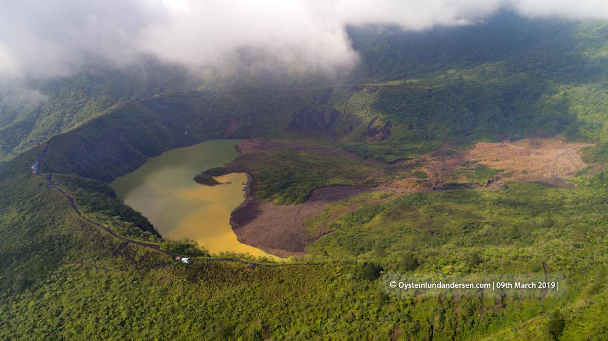 Galunggung Volcano Aerial Crater Cone 2019