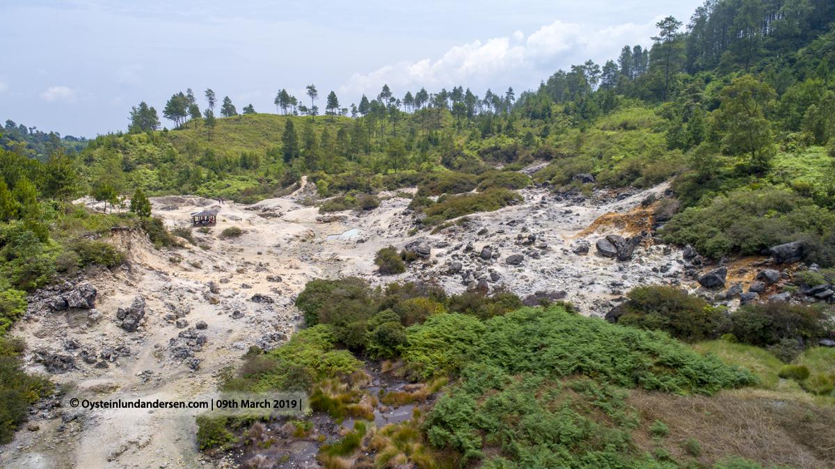Kawah Karaha Bodas Fumarole Java Indonesia 2019