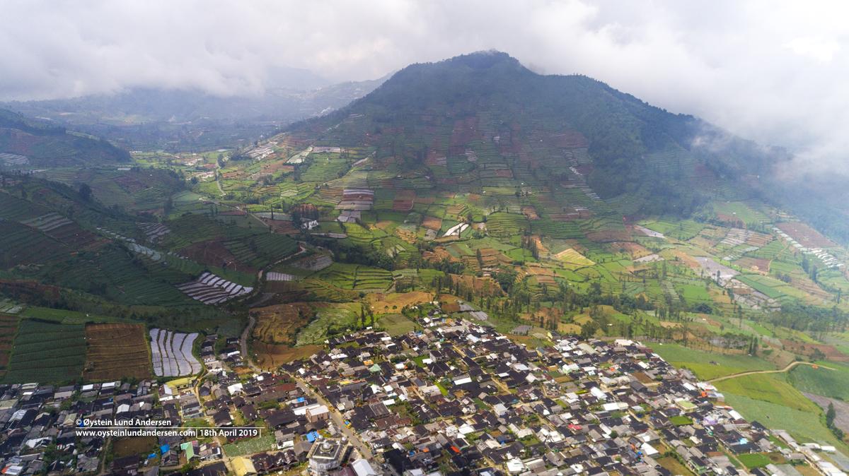 Dieng Plateau aerial 2019
