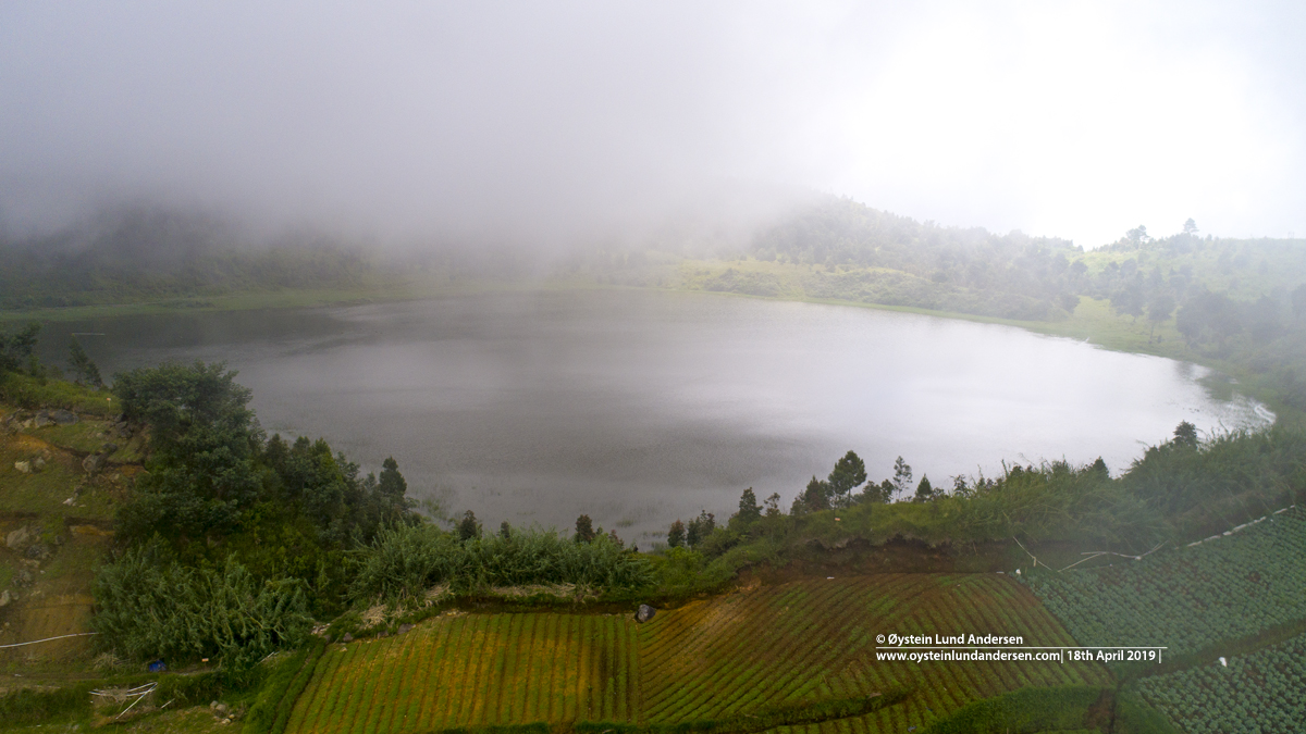 Dringo Crater lake Dieng Indonesia