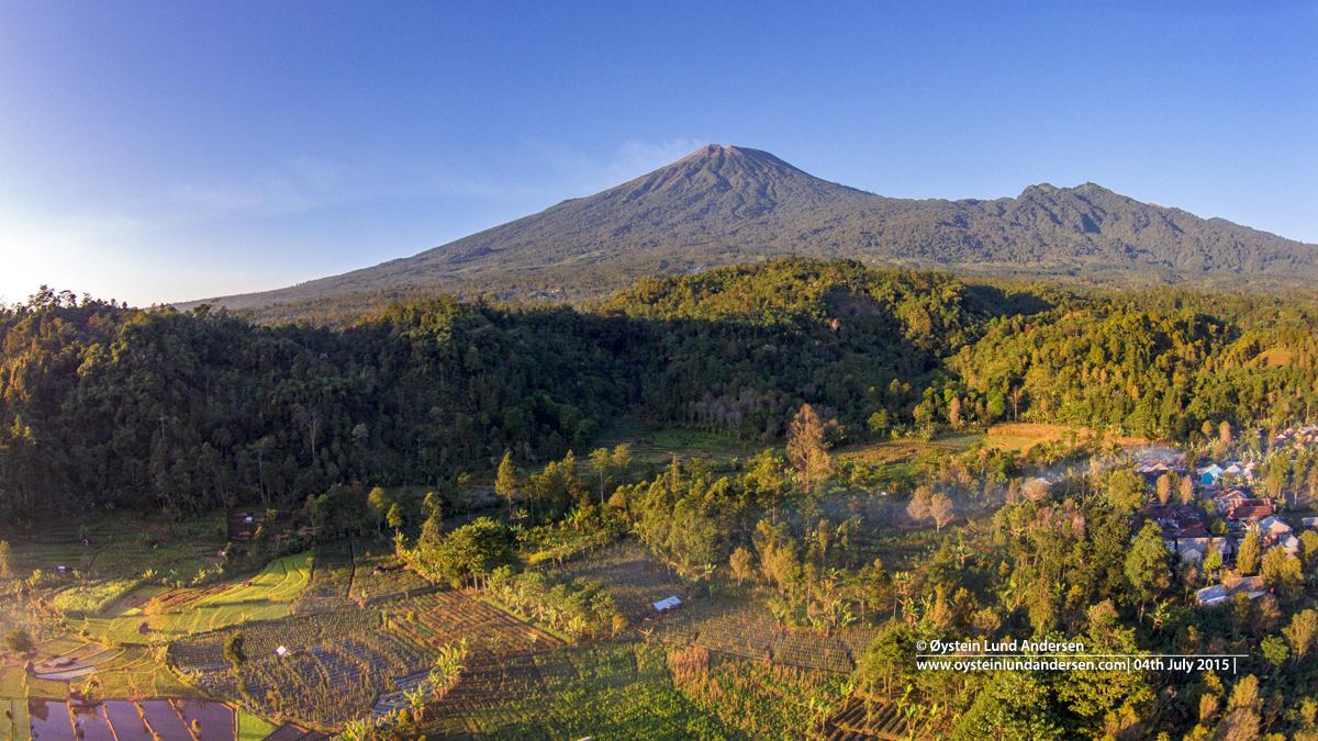 Slamet Volcano Java Indonesia Aerial 2015
