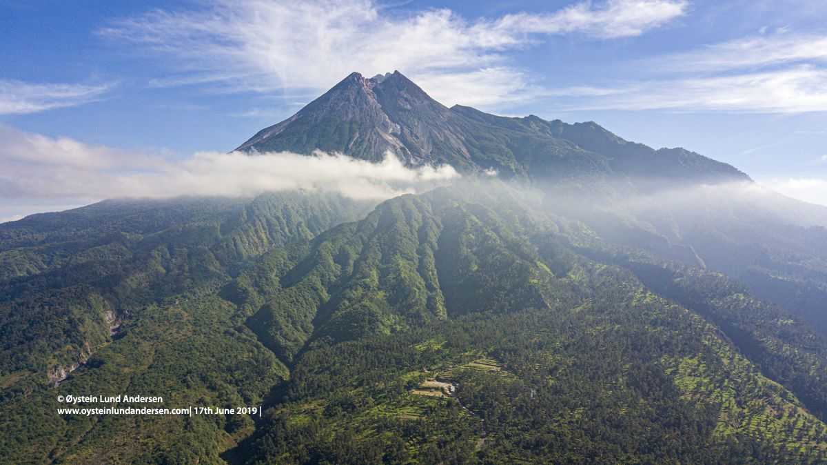 Aerial Drone Merapi June 2019 Volcano