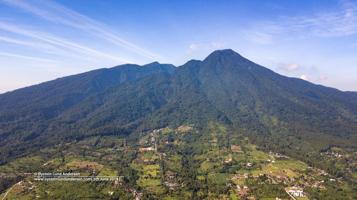 Salak volcano Indonesia