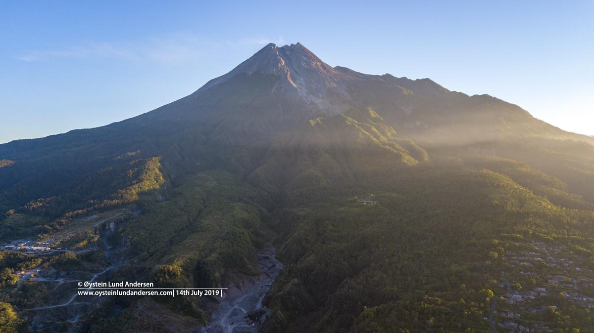 MErapi volcano aerial drone 2019