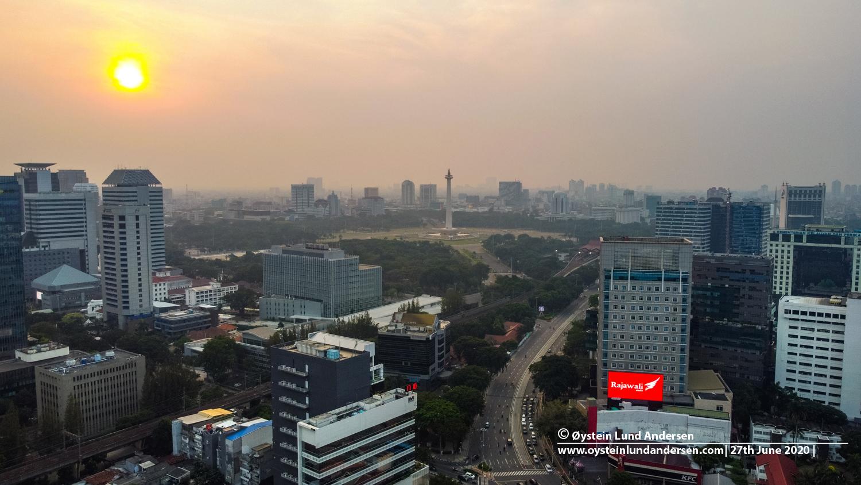 Jakarta Monas Aerial 2020