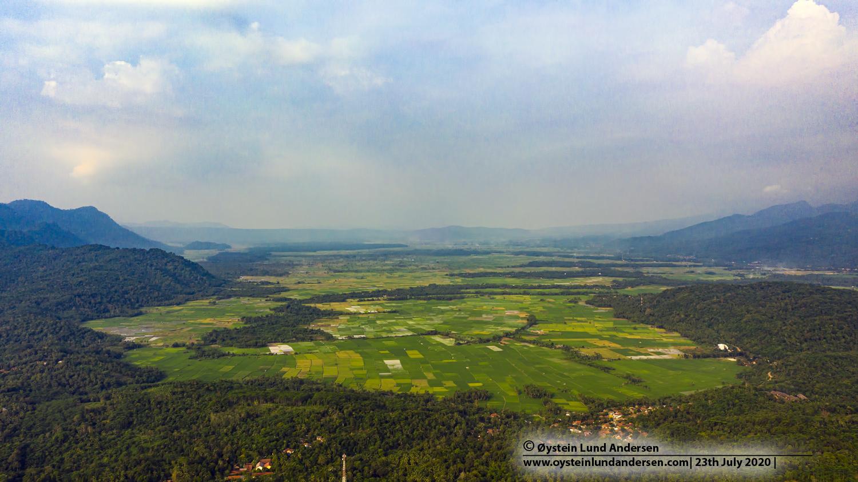 Danau Caldera Banten Indonesia 2020 aerial