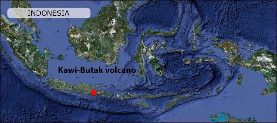 kawi butak volcano map peta