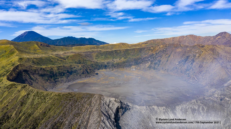 segara wedi, bromo, crater, aerial, 2021